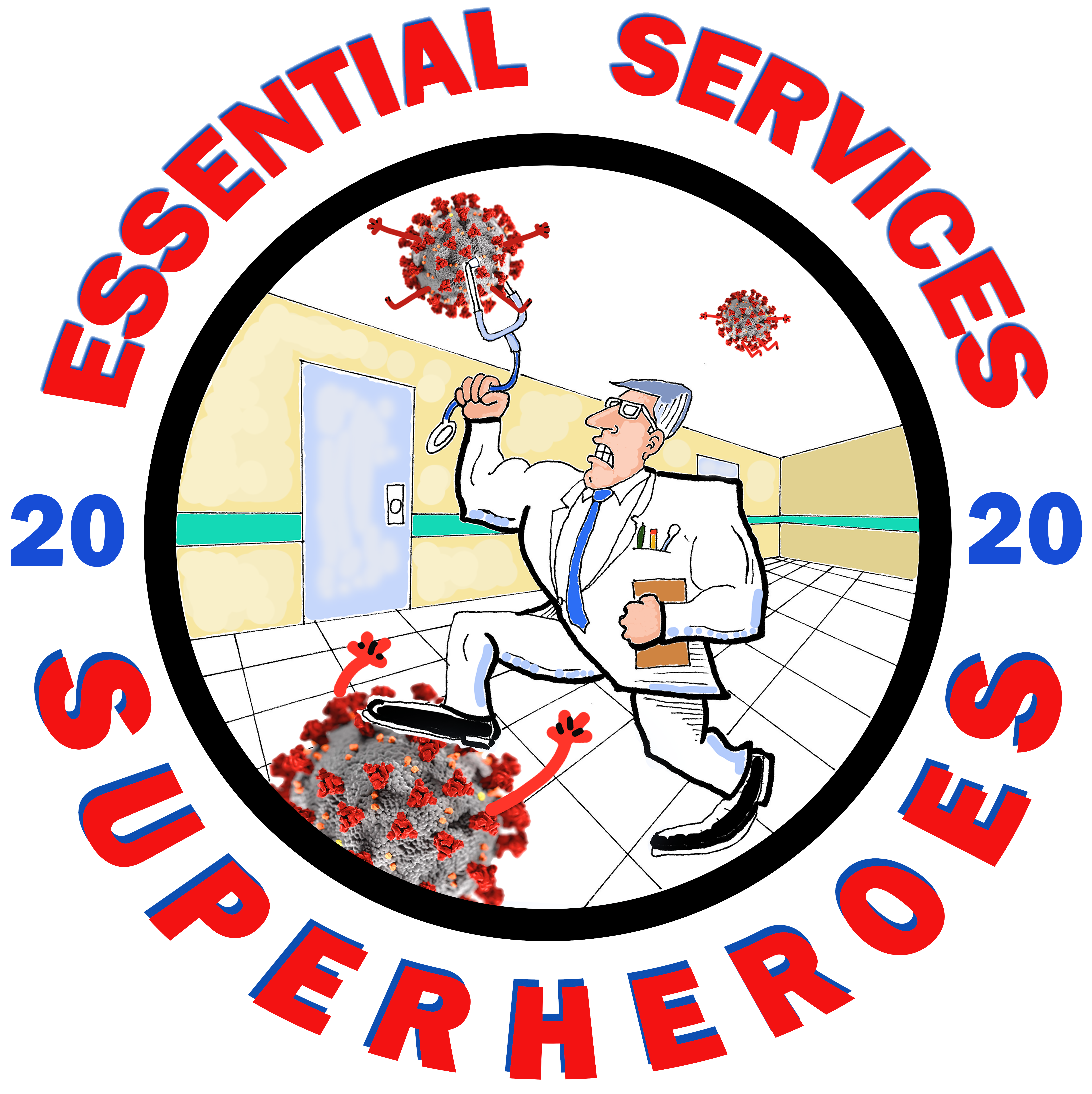 Honor to our Essential Services Superheroes.